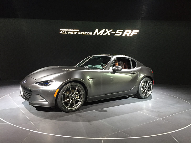the 2017 mazda miata rf has fastback looks open roof. Black Bedroom Furniture Sets. Home Design Ideas