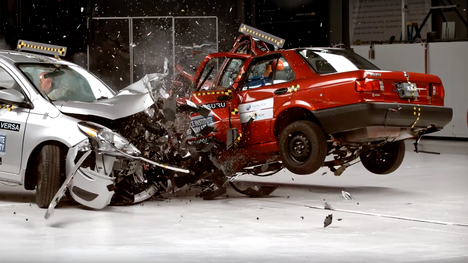 Nissan Tsuru Vs. Sentra Crash Test Shows Why You Shouldn't ...